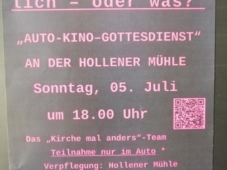 """""""Selbstverständlich– oder was?""""Auto-Gottesdienst am Sonntag 05. Juli um 18.00 Uhr"""