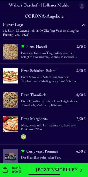 Pizza-Tage in der Hollener Mühle