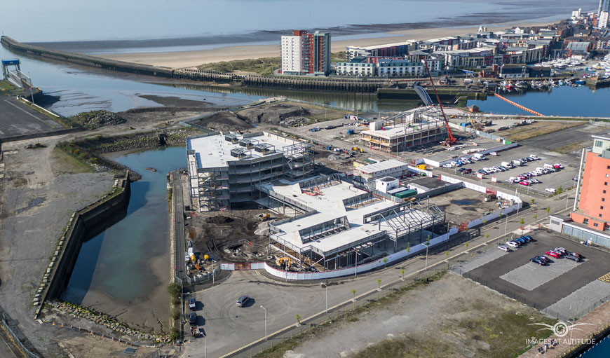 UWTSD Campus under construction at SA1 Waterfront