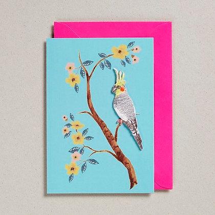 Embroidered Bird Card