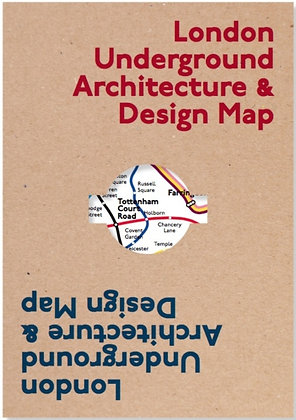 London Underground Architecture & Design Map by Mark Ovenden