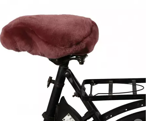 Sheepskin Bicycle Cover from Sweden: Burgundy COLLECTION ONLY