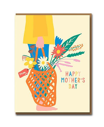 Happy Mother's Day Basket of Flowers
