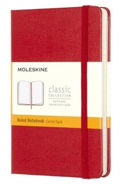 Moleskine Pocket Ruled Hardcover Notebook Red