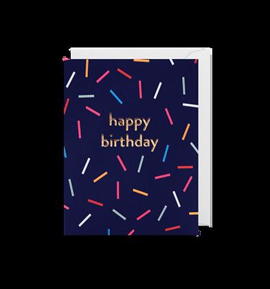 Happy Birthday Coloured LInes