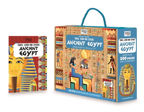 ANCIENT EGYPT PUZZLE & BOOK 200pc.
