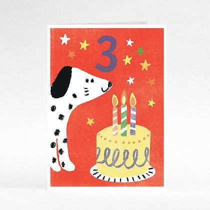 Happy Birthday Dog 3 Years