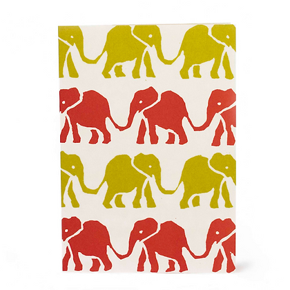 Elephants Yellow and Red