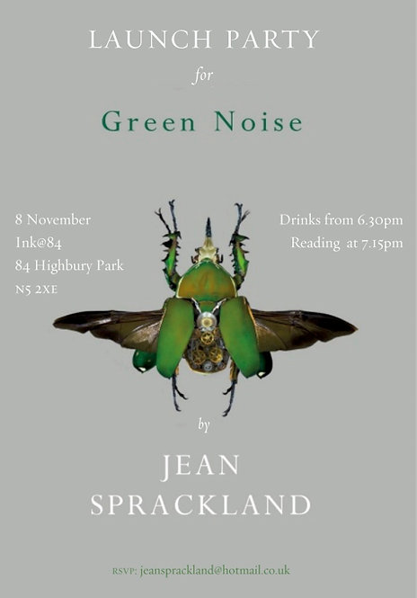 Thur Nov 8: Book Launch: GREEN NOISE with Jean Sprackland