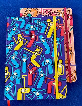 Dancing Pencils Notebook (lined)