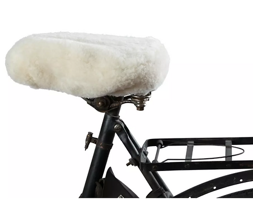 Sheepskin Bicycle Cover from Sweden: Cream COLLECTION ONLY