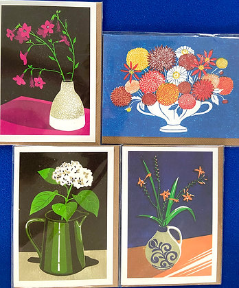 Vases Cards Pack of 4