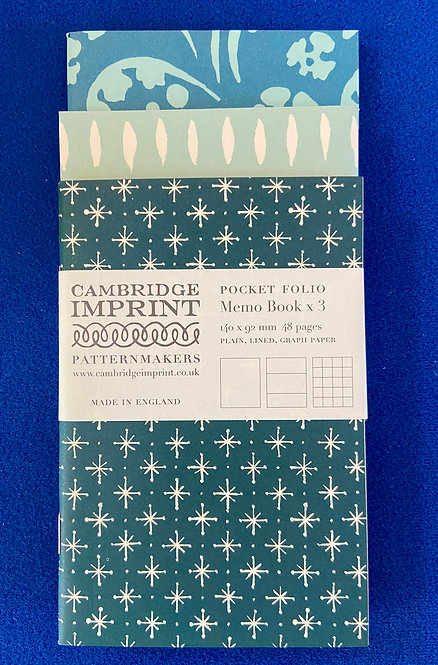 Cambridge Imprint Pocket Folio Memo Book Pack of 3: mixed pack