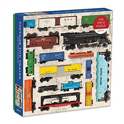 Vintage Toy Trains 300pc Puzzle by Galison