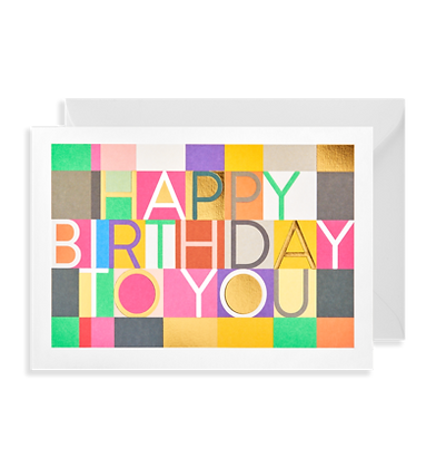 Happy Birthday Multicoloured