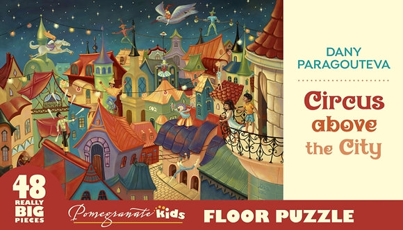 Circus Above the City Floor Puzzle 48Pc