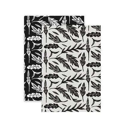 2 Mini Notebooks Black and White