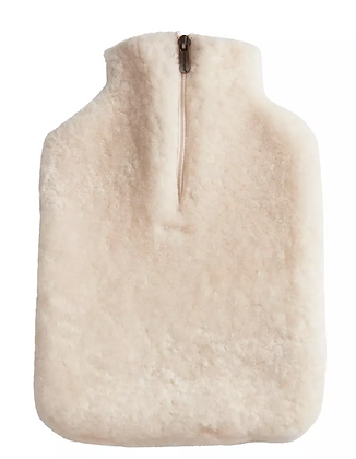 Sheepskin Hot Water Bottle Covers from Sweden: Cream COLLECTION ONLY