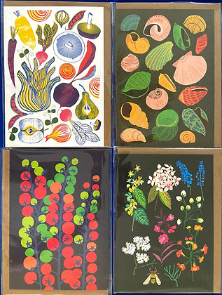 Garden Time Pack of 4 Cards