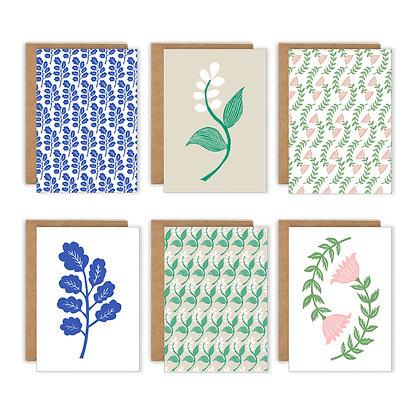 Kiran Ravillious Set of Cards Plants 11