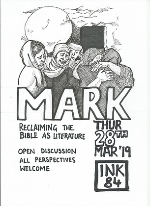Thur Mar 28: Mark: The Bible As Literature Discussion Group 7pm FREE