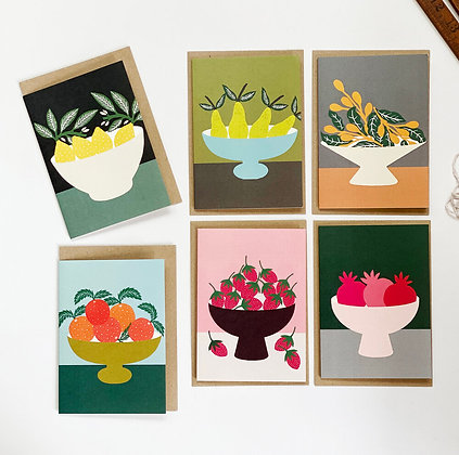 Fruit Bowls Six Cards