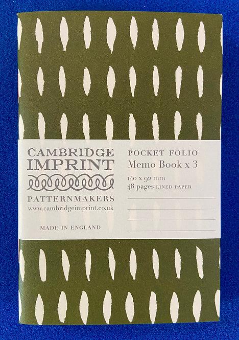Cambridge Imprint Pocket Folio Memo Book Pack of 3