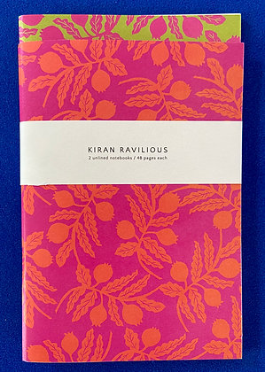 Kiran Ravilious Unlined Notebooks Pack of 2