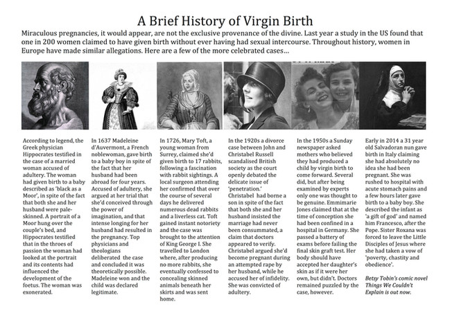 A Brief History of Virgin Birth on BBC Radio 4's Women's Hour