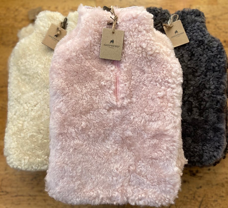 Sheepskin Hot Water Bottle Covers from Sweden: Charcoal