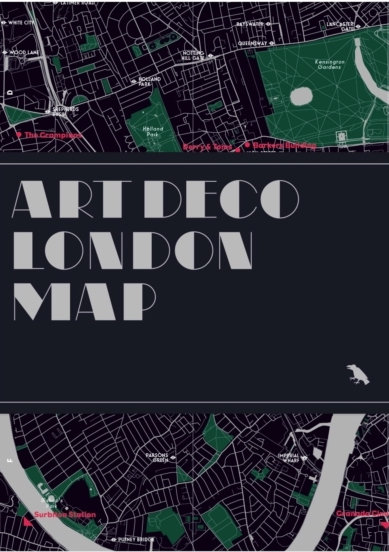Art Deco London Map by Henrietta Billings & Simon Phipps