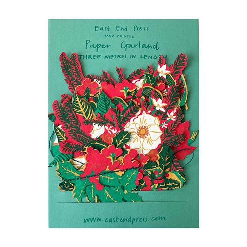 Christmas Foliage Paper Garlan