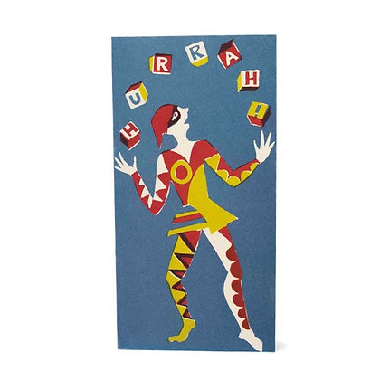 Juggler Red Yellow and Blue