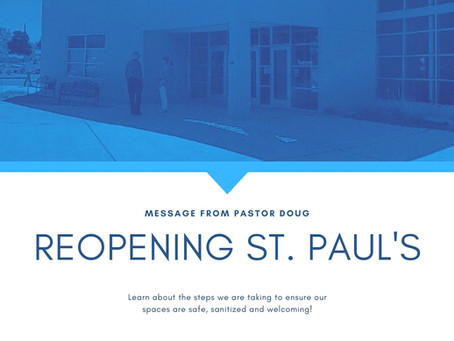 REOPENING ST. PAUL'S