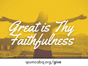 Great Is Thy Faithfulness Giving Campaign By Pastor Doug
