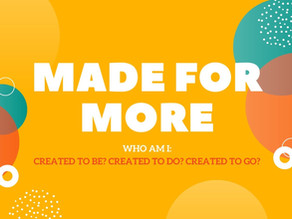 More on Made for More By Pastor Doug