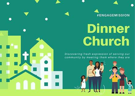 Dinner Church Tile Card