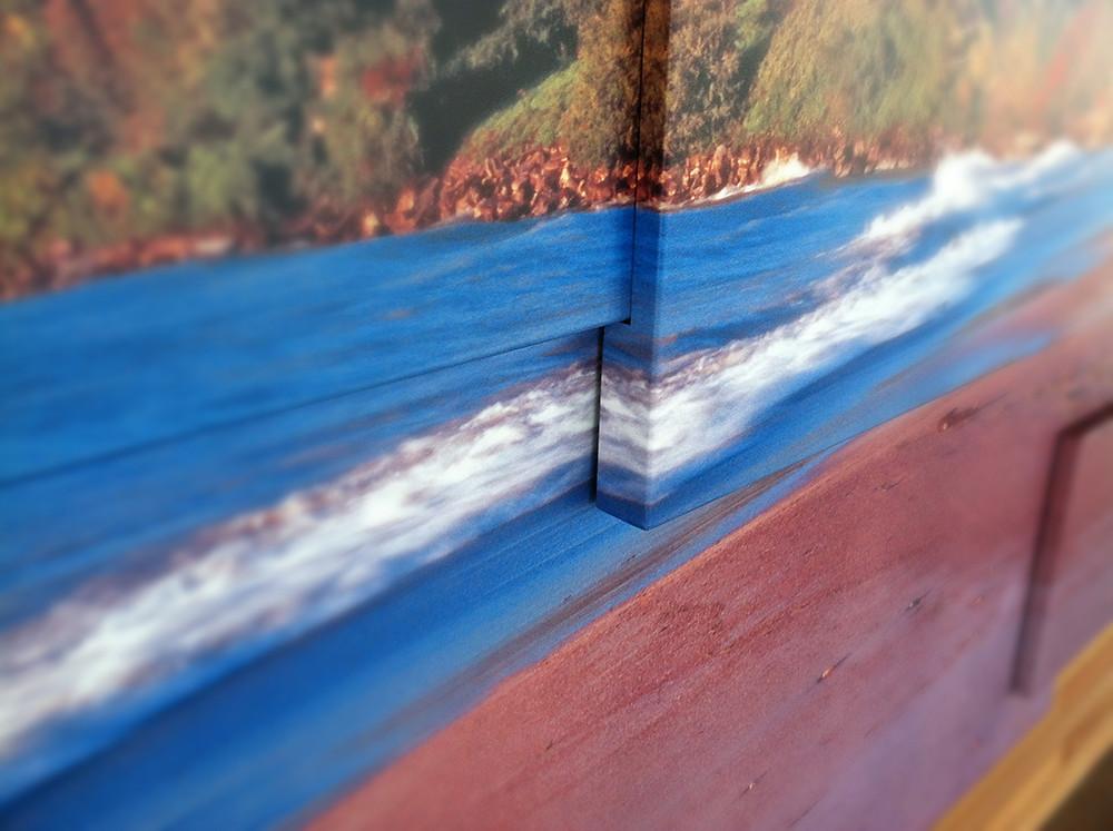 Custom dye-sublimated powder-coated graphics on aluminum panels for visitor center