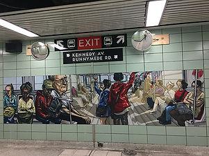 Runnymede TTC Station-Murals-by Elicser-