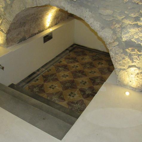Vasca di cementine antiche