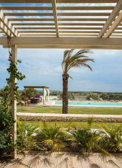 patio fronte piscina - patio pool view