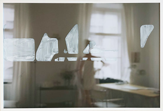 Daniel Castells, 2nd District, 2020, C-print photograph and acrylic on glass painting