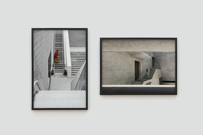 From left to right: Inhabitant I (Valencia), 2009, Inhabitant II (Naoshima), 2019