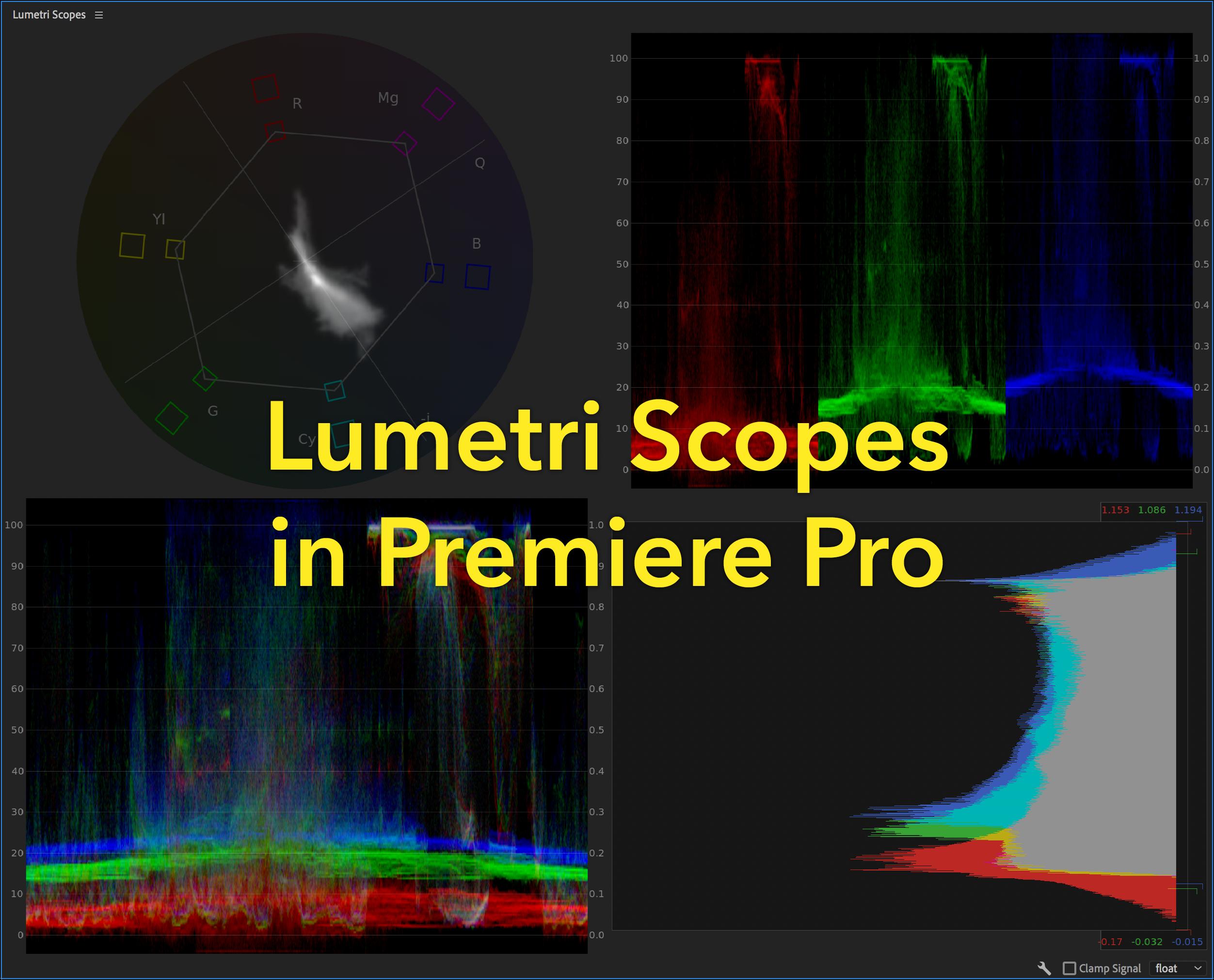Lumetri Scopes in Premiere Pro