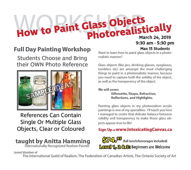 How to Paint Glass Objects  Photorealistically