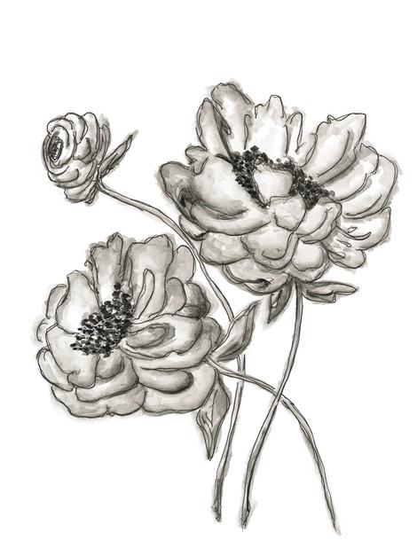 Vintage Floral 2_rough sketch