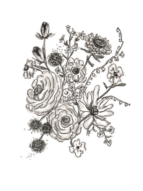 Vintage Floral 1_rough sketch