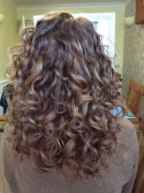 Beautiful bouncy curls