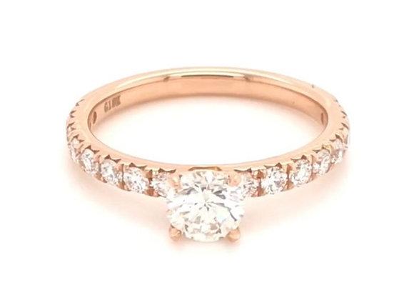 New: 18k Rose Gold 1.14ct Diamond Engagement Ring Gemologist Appraised 4640