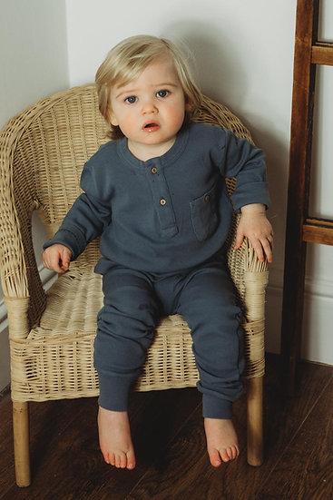 Boys Organic Essentials Loungewear set -Vintage Blue